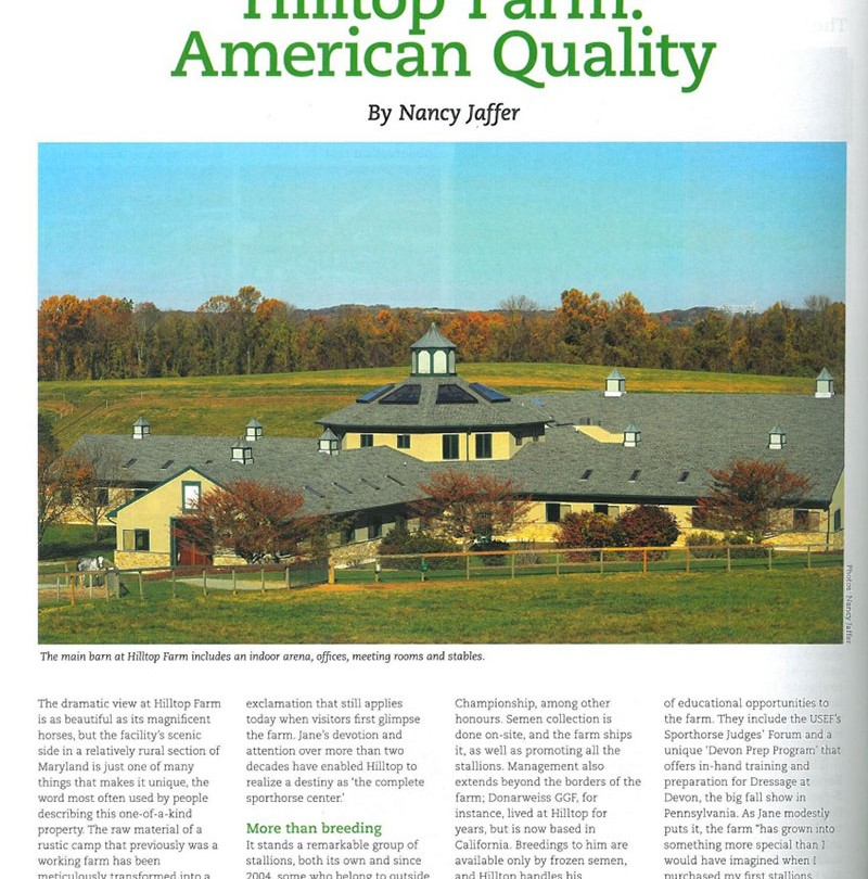 Behind The Scenes – Hilltop Farm: American Quality