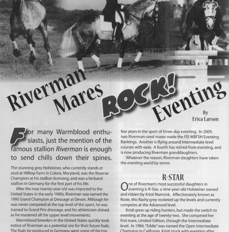 Riverman Mares Rock Eventing